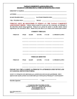 Resident's Information & Vehicle Registration