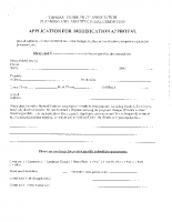 Application for Modification Approval Form