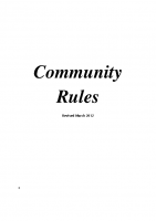COMMUNITY RULES.REVISED MARCH.2012