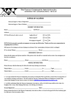 Vacation Notification Form 02.18.2021